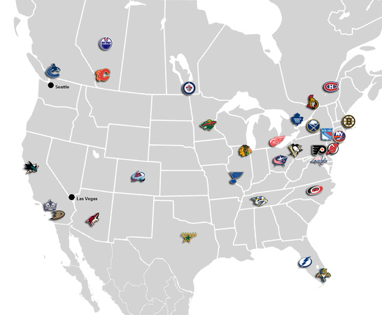 NHL Hockey Map