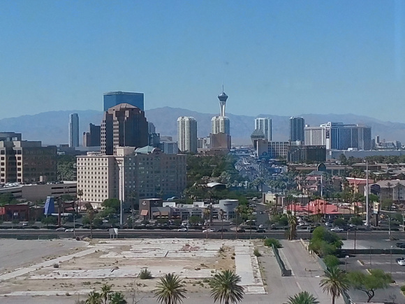 Las Vegas skyline the day before the awards.